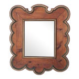Image of Late 19th Century Polychromed Wood Mirror For Sale