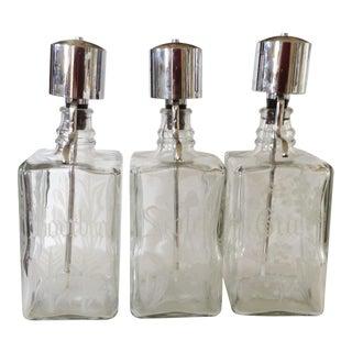Liquor Bar Decanters - Set of 3 For Sale