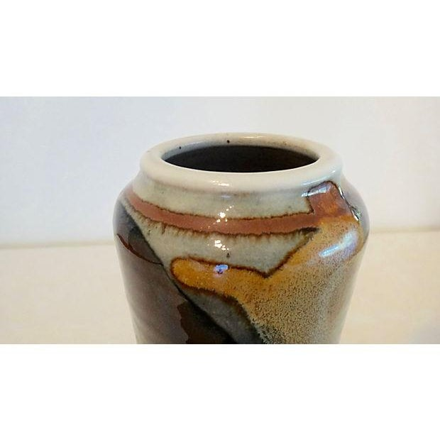 Modernist Abstract Studio Pottery Vase For Sale - Image 7 of 11