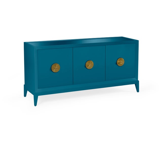 Transitional Casa Cosima Hayes Sideboard, Blue Danube For Sale - Image 3 of 5