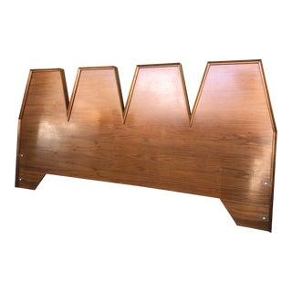 1960s Danish Modern Albert Parvin for American of Martinsville King Sized Headboard For Sale
