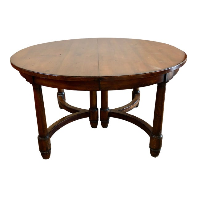 Traditional Henredon Solid Wood Round Dining Table