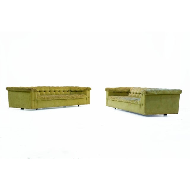 1950s 1950s Mid-Century Modern Edward Wormley for Dunbar Party Sofas - a Pair For Sale - Image 5 of 6