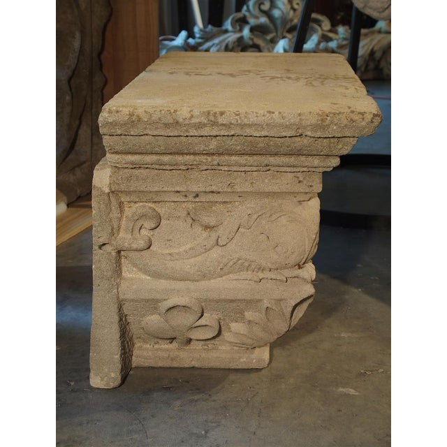 Mid 19th Century Antique Beige Limestone Statue Pedestal from France, Savonnières-en-Perthois, 19th Century For Sale - Image 5 of 11