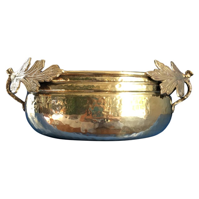 1990s Solid Brass Planter/Bowl For Sale