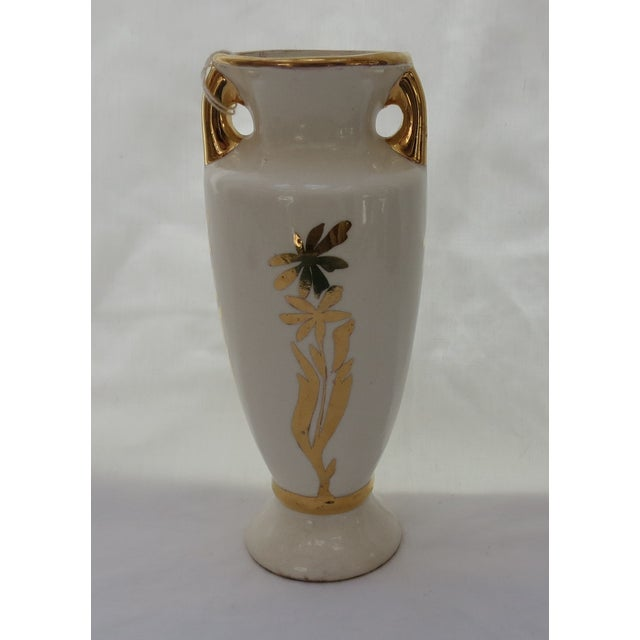 1938 Art Deco Hand Painted Vase - Image 2 of 4