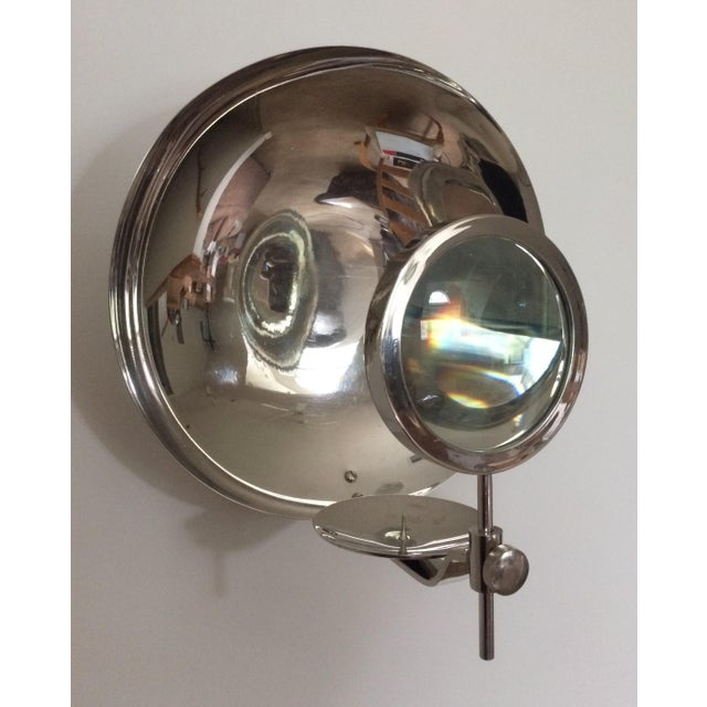 Transparent Rare Early 20th Century Parabolic Reflector Candle Holder Wall Sconce For Sale - Image 8 of 9