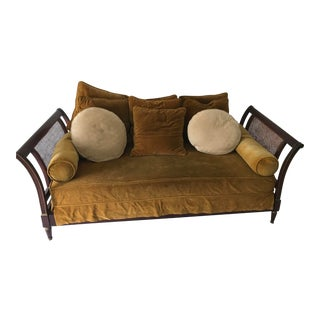 19th Century French Gold Upholstered Officer Daybed