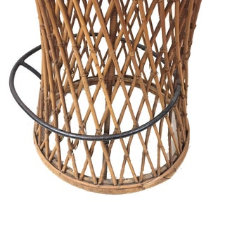 1960s Vintage Rattan Stool Preview