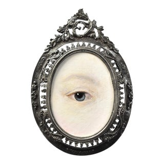 Contemporary Lover's Eye Portrait by S. Carson For Sale