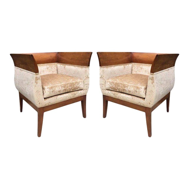 Pair Orlando Diaz-Azcuy Club chairs for HBF For Sale
