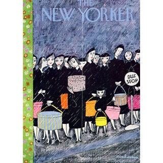 1956 New Yorker Cover, March 31 (Christina Malman), Fashion, City Life For Sale