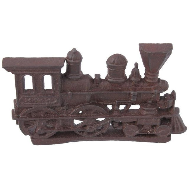 19th Century Original Old Surface Iron Train Door Stop - Image 1 of 8