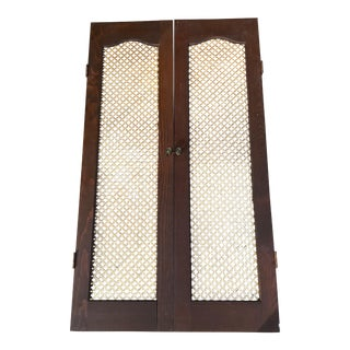 Interior Decorative Shutters With Tin Metal Inserts For Sale