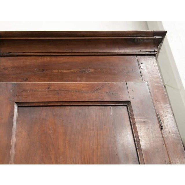 Monumental French Louis Philippe Period Cherry Placard or Wardrobe For Sale In Birmingham - Image 6 of 12