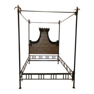 Traditional Hand Crafted Four Poster Bedframe For Sale