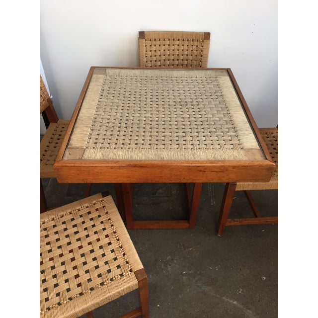 Mid Century Jute Dining Set For Sale - Image 7 of 10