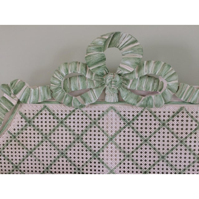 Cottage Julia Gray Queen Cane Bed For Sale - Image 3 of 7