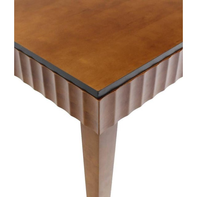 Mid-Century Modern Modern Scallop Edge Desk or Writing Table For Sale - Image 3 of 8