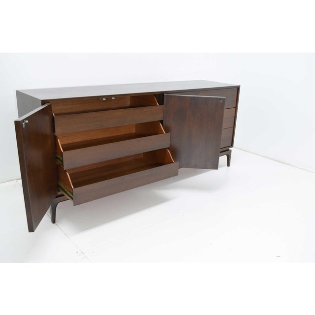 1960s Mid-Century Modern Walnut Sculpted Sideboard For Sale - Image 5 of 11