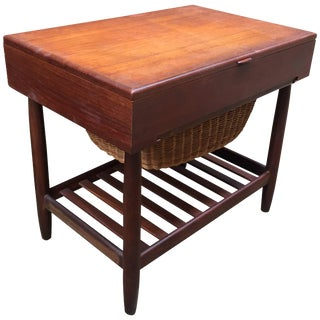 Ejvind Johansson Vitre Danish Teak Sewing Stand For Sale