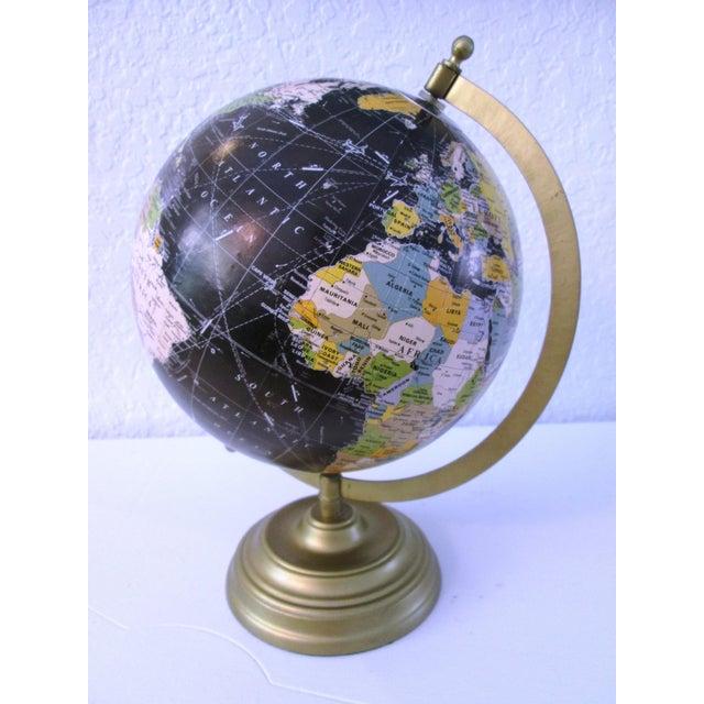 Black Spinning World Globe - Image 2 of 8