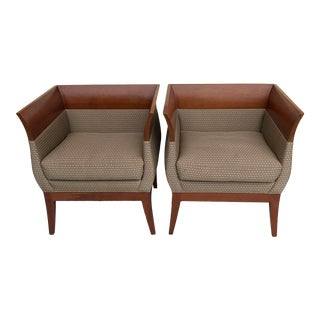 Orlando Diaz-Ascot Chalice Chairs for HBF(hickory Furniture) a Pair For Sale