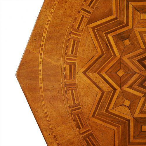 Wood Circa 1870 Inlaid Italian Octagonal Table For Sale - Image 7 of 9