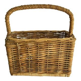 Woven Rattan Magazine Basket