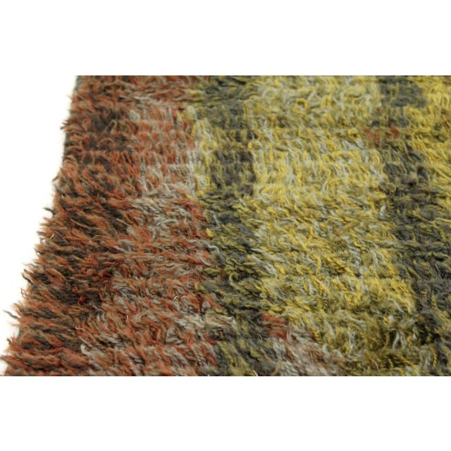 Textile Graphic Finnish Rya Rug For Sale - Image 7 of 11