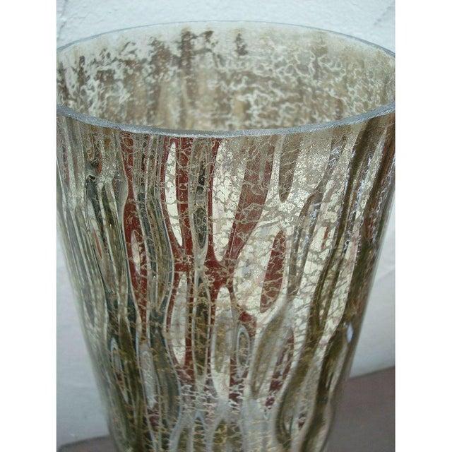 Modern Textured Metallic Glass Table Lamp - Image 6 of 6