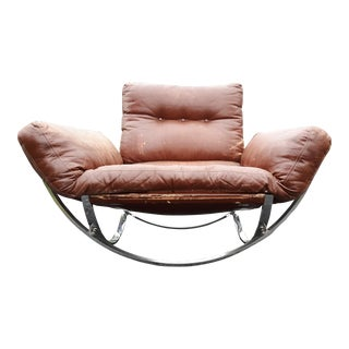 1960s Vintage Chrome Hoops Sling Chair For Sale