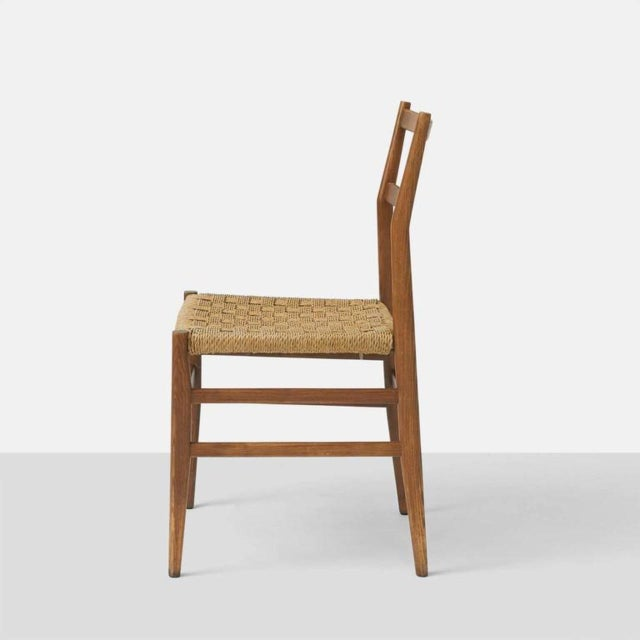 Mid-Century Modern Set of Eight Leggera Chairs by Gio Ponti for Cassina For Sale - Image 3 of 9