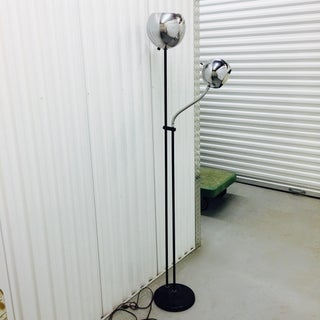 1970s Vintage Chrome Floor Lamp in Sonneman Space Age Style Preview