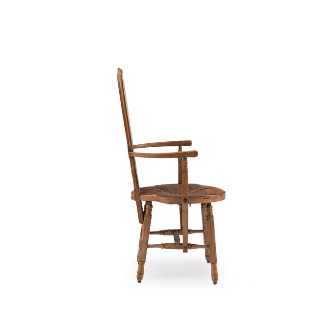 French Provincial Crane Arm Chair For Sale - Image 4 of 7