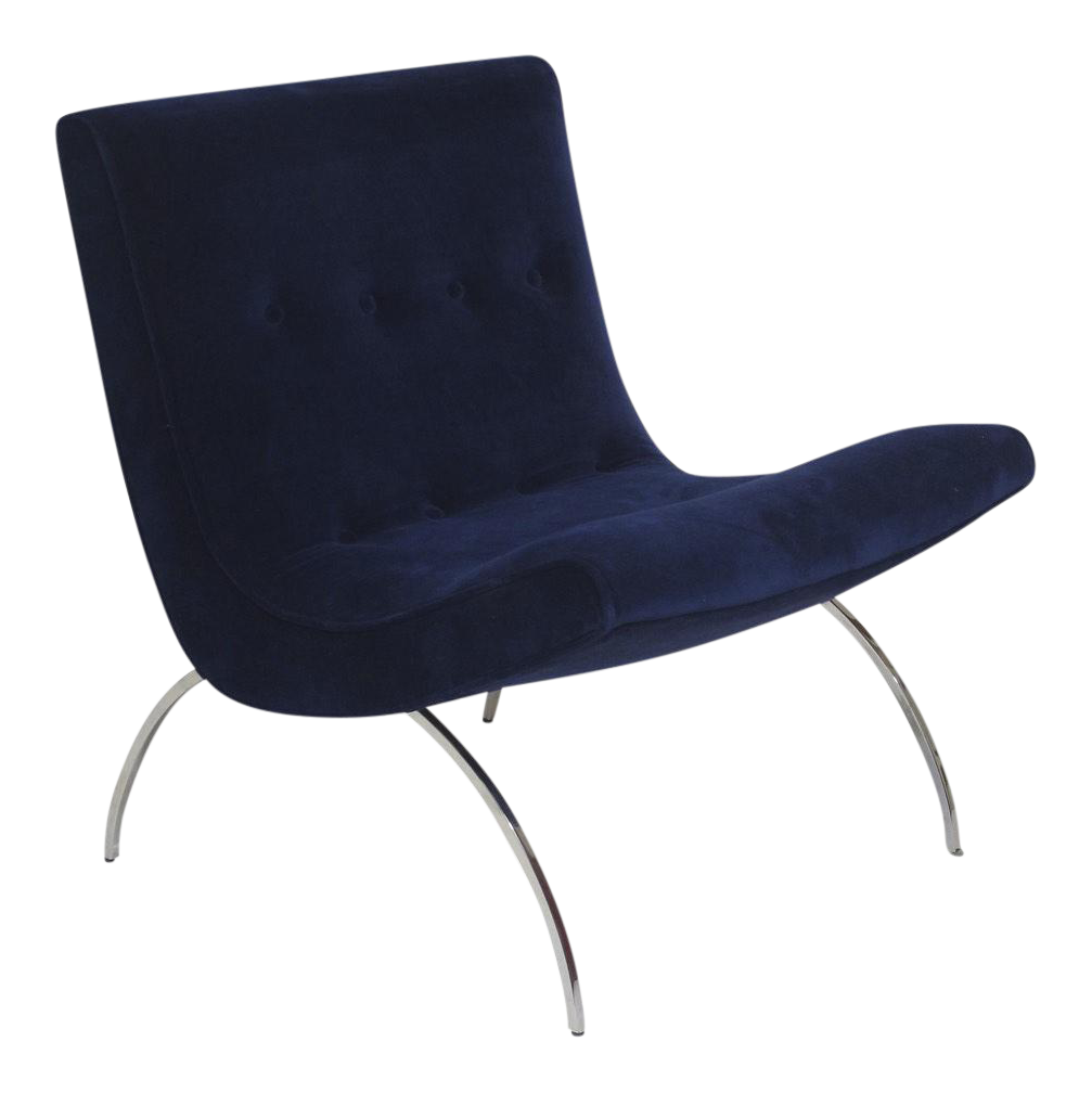 Milo Baughman Scoop Chair For Sale