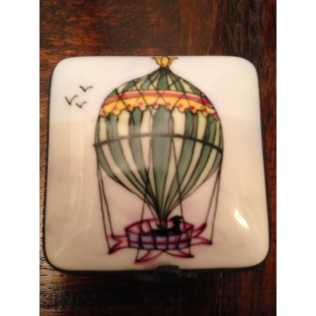 Vintage Limoges Square Hot Air Balloon Box - Image 4 of 5