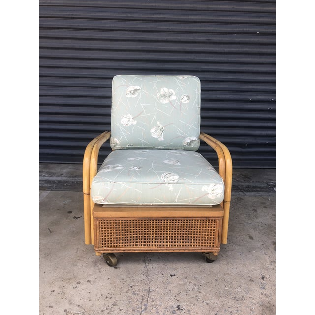 Mid 20th Century Mid Century Ficks Reed Rattan Lounge Chair For Sale - Image 5 of 12