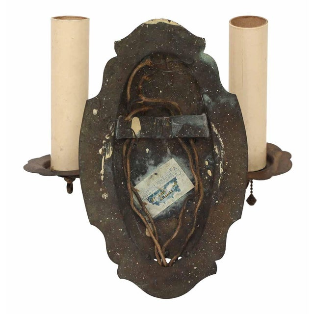 Two Arm Single Brass Sconce For Sale - Image 5 of 6