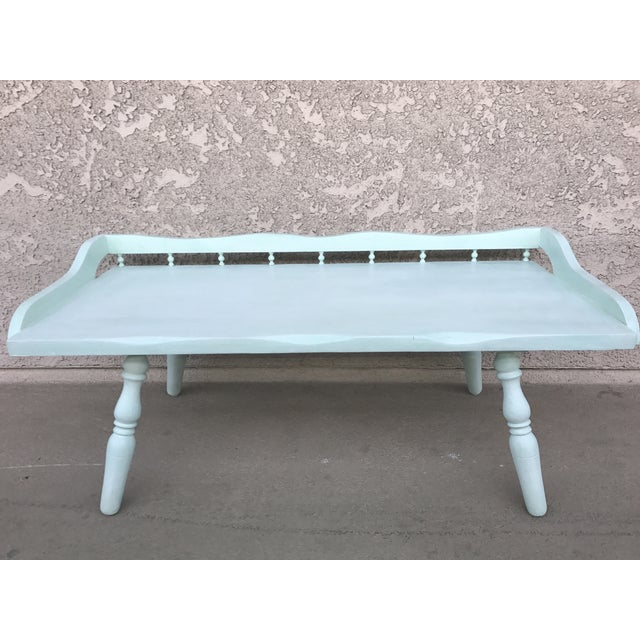 Shabby Chic Painted Farmhouse Style Coffee Table - Image 2 of 10