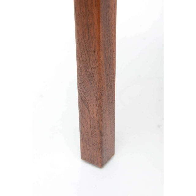 Metal Mid-Century Modern Walnut Table With Enamel on Copper Inset by Brown Saltman For Sale - Image 7 of 10