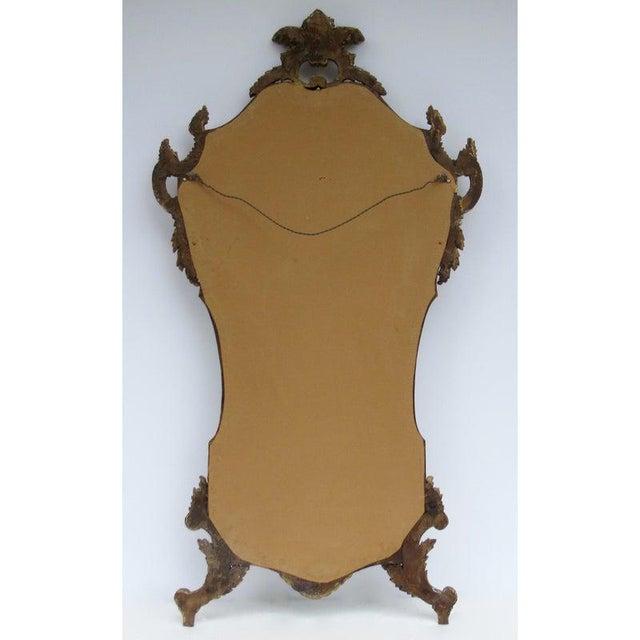 Vintage C.1950's Hollywood Regency Era Italian Venetian Gilt Gold Leaf Carved Mirror For Sale - Image 12 of 13