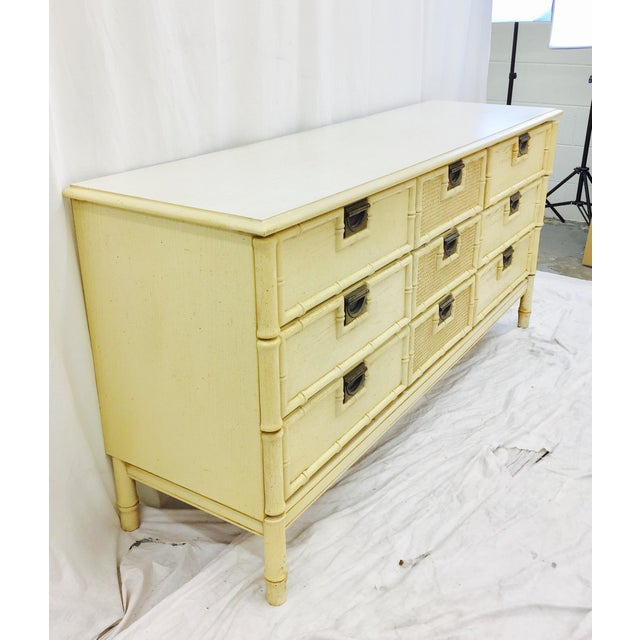 Vintage Faux Bamboo Dresser For Sale In Raleigh - Image 6 of 10