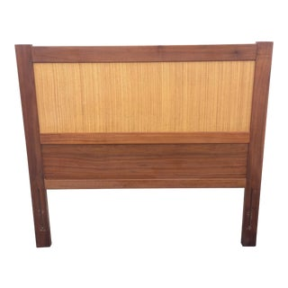 Vintage Walnut and Cane Headboard for Child's Bed For Sale