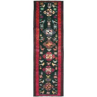 "Vintage Persian Kurd Rug – Size: 3' 6"" X 11' 6"" For Sale"