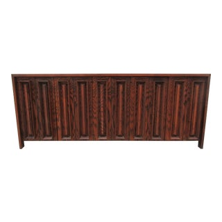 Mid-Century Modern Dillingham Walnut and Pecky Cypress Credenza For Sale