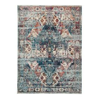 "Jaipur Living Farra Indoor Outdoor Medallion Multicolor Blue Area Rug 7'10""X9'10"" For Sale"