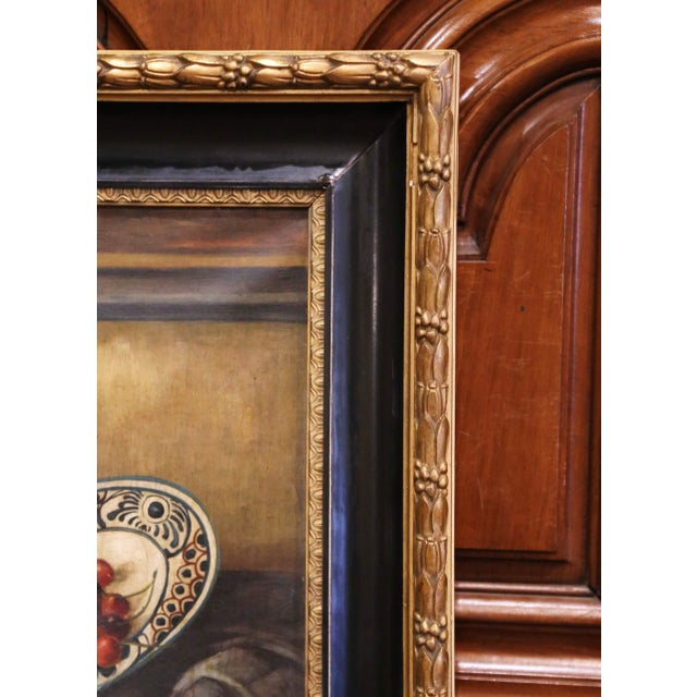 Late 19th Century 19th Century French Signed Oil on Canvas Painting in Carved Gilt Frame For Sale - Image 5 of 11