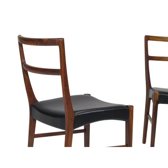 Mid-Century Modern Johannes Andersen for Bernhard Pedersen & Sons Rosewood Dining Chairs - Set of 8 For Sale - Image 3 of 8