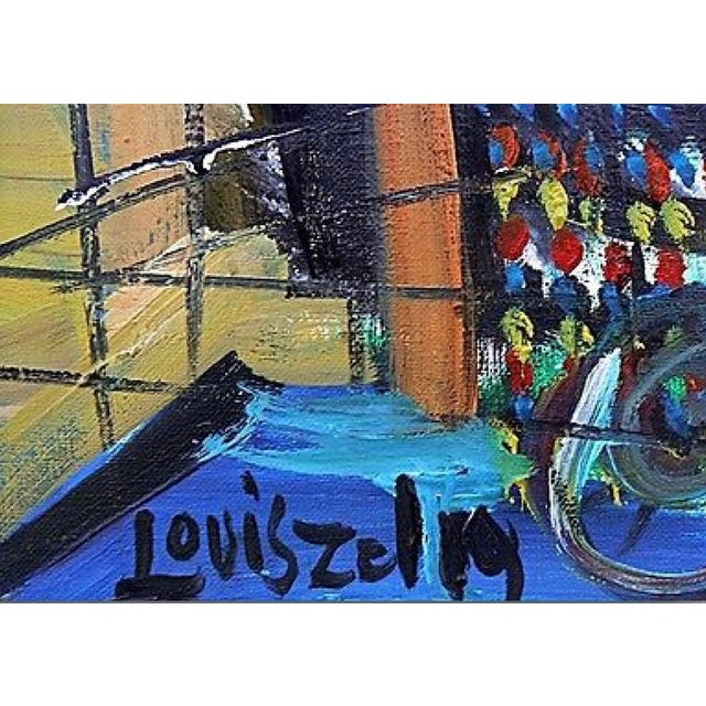 Loius Zelig Mid-Century Modern Painting For Sale In New York - Image 6 of 10